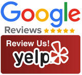 Logos for Google reviews and for Yelp